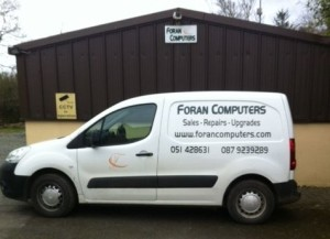 Foran Computes workshop and van